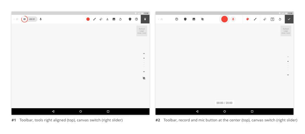 Toolbar (top bar)