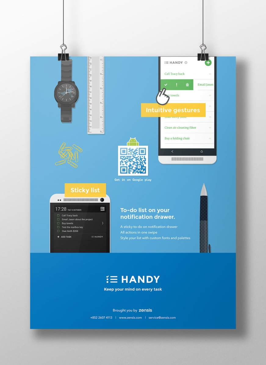 Handy App Promotion Flyer Constance Tang