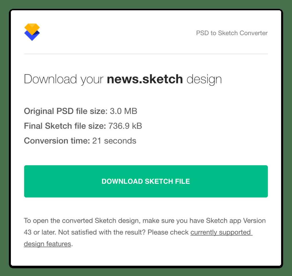 Design Converter Email