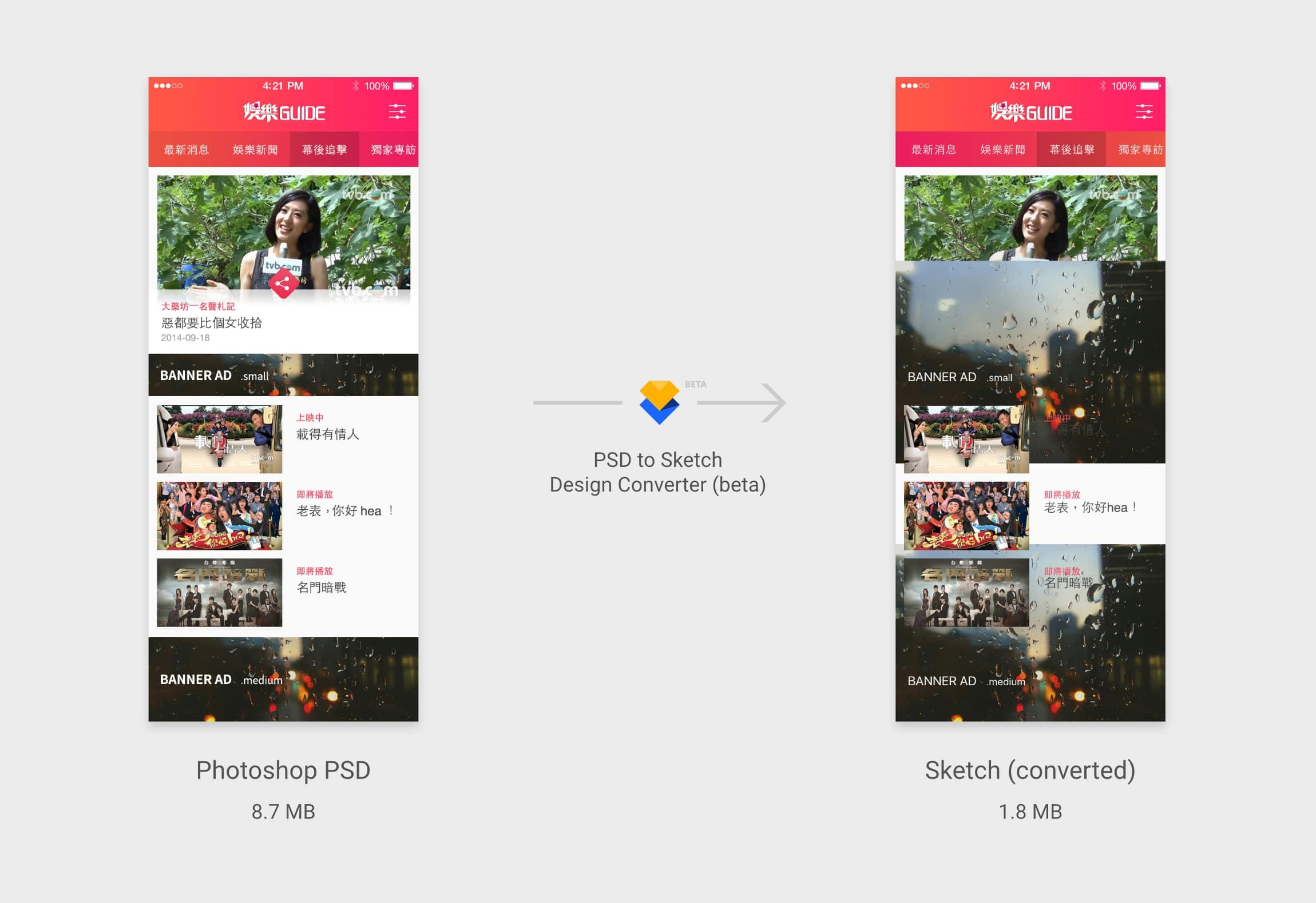TVB 娛樂新聞 App 測試結果